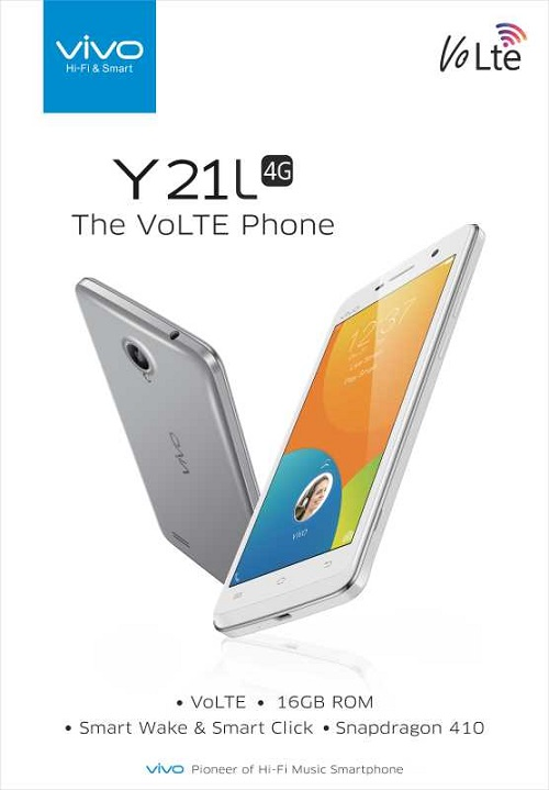 Vivo Unveils 4G VoLTE enabled Y21L smartphone for INR 7490 - Telecom