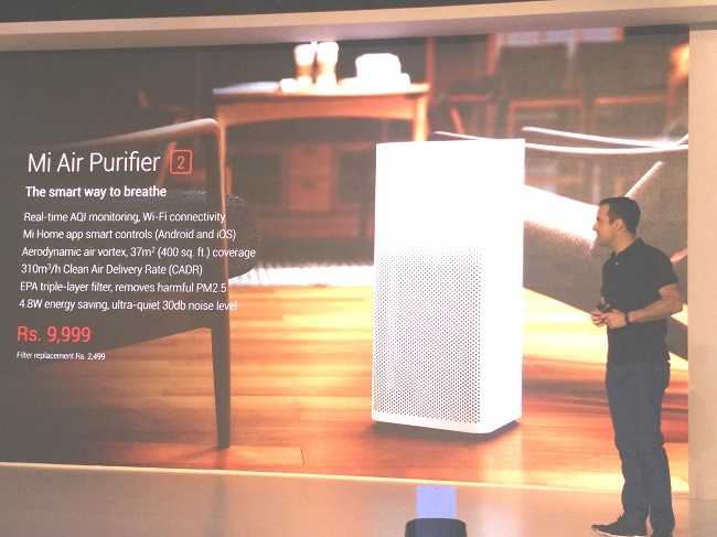 Connected Home: Xiaomi Unveils Mi Air Purifier 2 in India