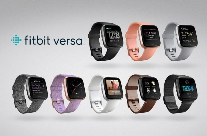 Fitbit Versa™ Family Classic Band Small Midnight Blue//Rose Gold