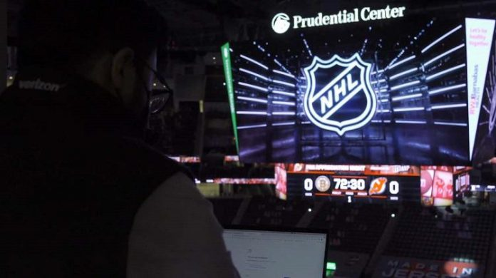 Verizon tests how 5G can bring hockey fans real-time stats in arenas