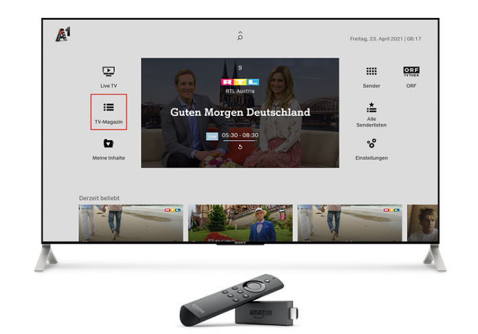 A1 Austria Unveils Zappware-powered A1 Xplore TV on Fire TV
