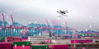 Digital Port | Drones secure Port of Hamburg with Telekom network